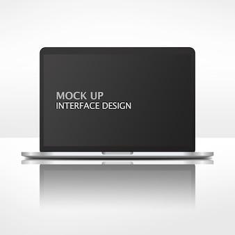 Interfaccia mock up per laptop
