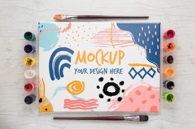 Acquerelli di pittura mock-up