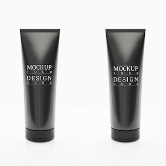 Mock up per tubo di crema, nero