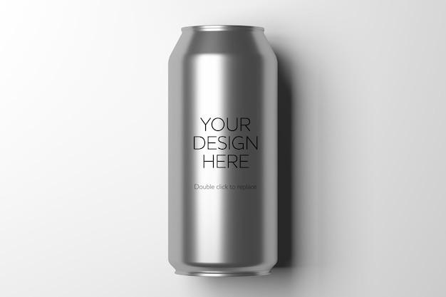 Mock up view di una lattina di metallo - rendering 3d