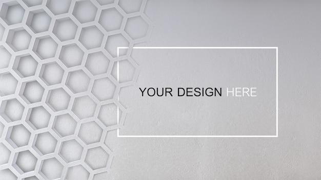 Modello dell'immagine della rappresentazione 3d del muro di cemento