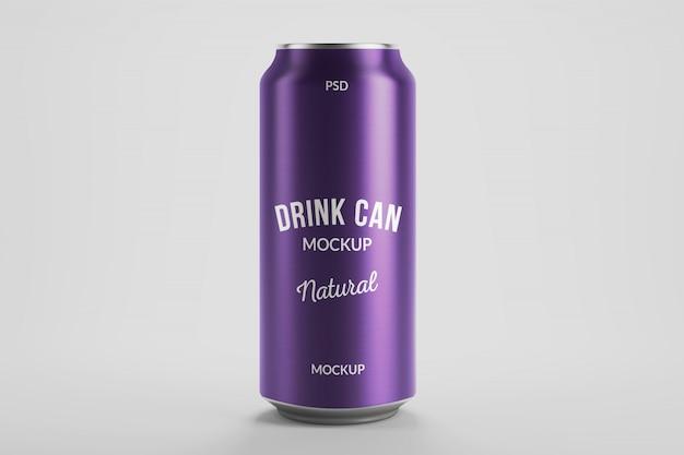 Mockup di confezione da 500 ml in alluminio per birra