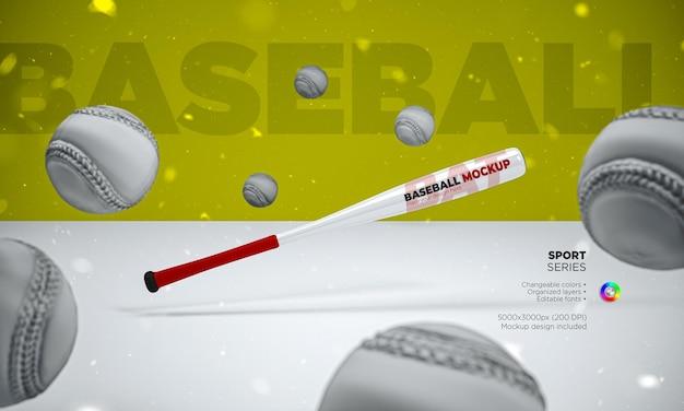 Mazza da baseball mockup nel rendering 3d