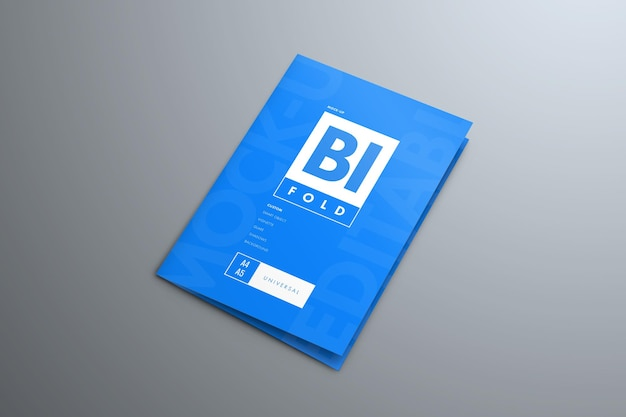 Brochure mockup bi-fold