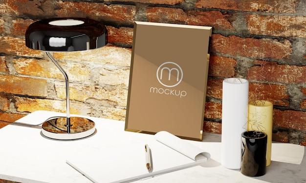 Mockup cornice per foto in bianco banner design