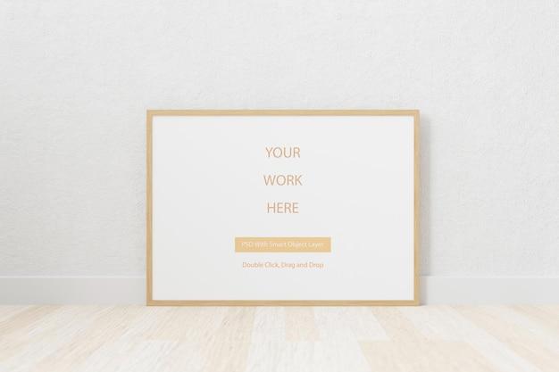 Mockup cornice per foto in bianco per il tuo design