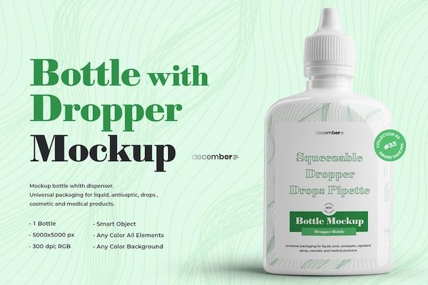 Design di bottiglie con contagocce mockup