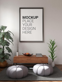 Mockup cornice per foto vuota sul muro