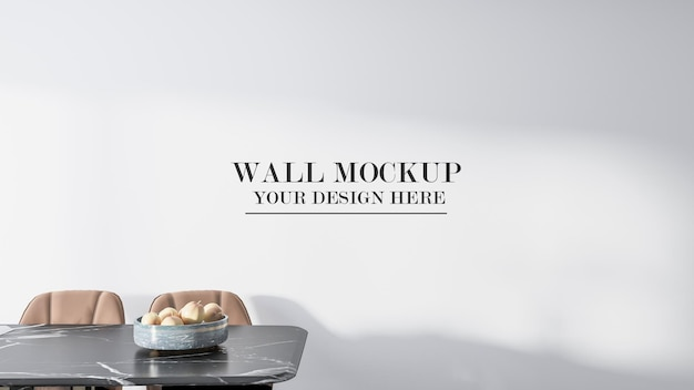 Mockup muro vuoto nel rendering 3d