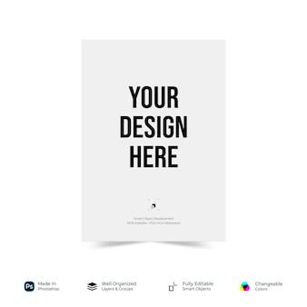 Mockup flyer poster brochure paper design di base