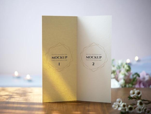Mockup di carta piegata per menu