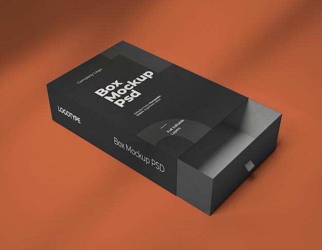 Mockup della scatola quadrata isolata