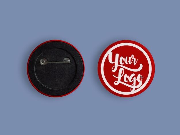 Mockup per logo sul badge con colore modificabile e modificabile