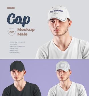 Mockup di berretto da uomo