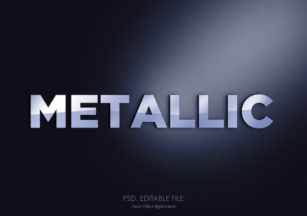 Effetto metallico del testo 3d del modello moderno