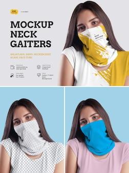 Mockup neck gaiters design