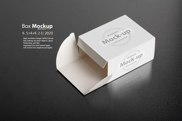 Mockup per pacchetto pillboxe aperto