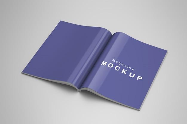 Mockup per le pagine di una rivista