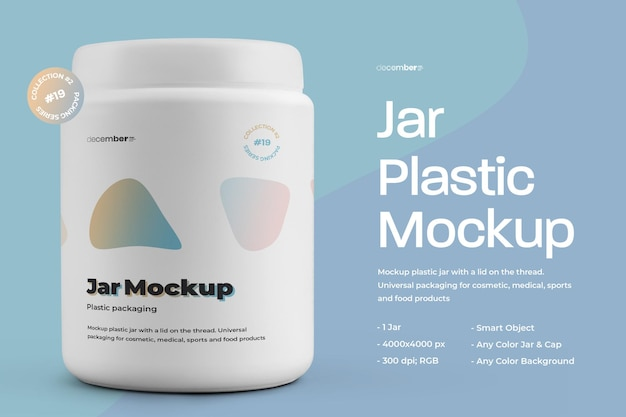 Mockup di plastica fat jar design