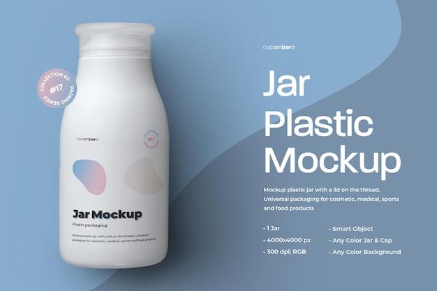 Design del barattolo di plastica mockup