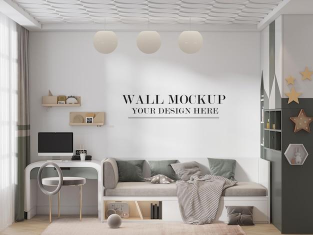 Mockup parete della stanza dell'adolescente