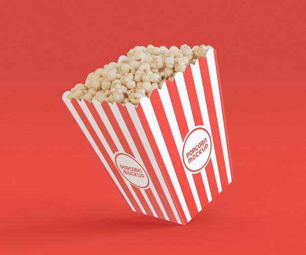 Mockup con secchio per popcorn