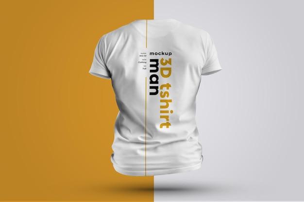 Mockup t-shirt 3d man.