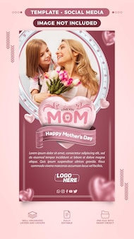 Storie di modelli social network happy mothers day