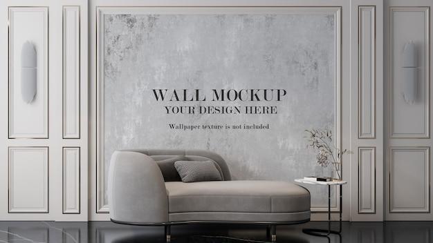 Mockup di pareti interne in stile artdeco moderno