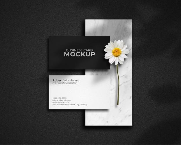 Design moderno mockup di biglietti da visita