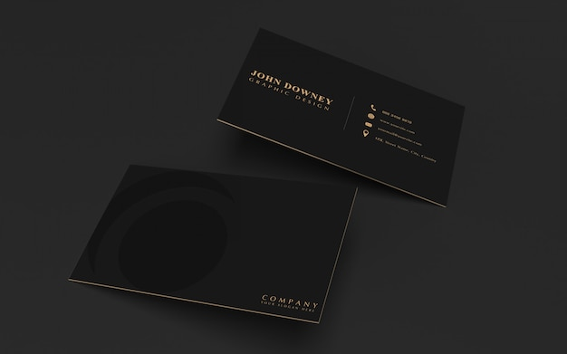 Modello di mockup moderno biglietto da visita. design elegante