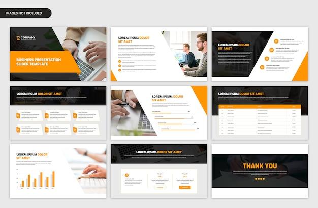 Modello di cursore aziendale moderno per progetti aziendali e di avvio