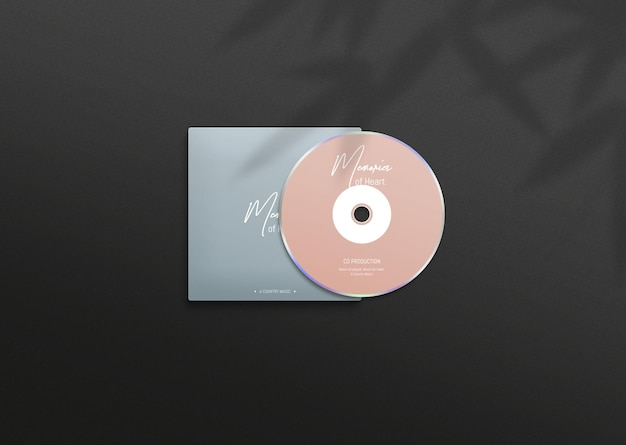 Mockup di copertina moderna e disco compatto