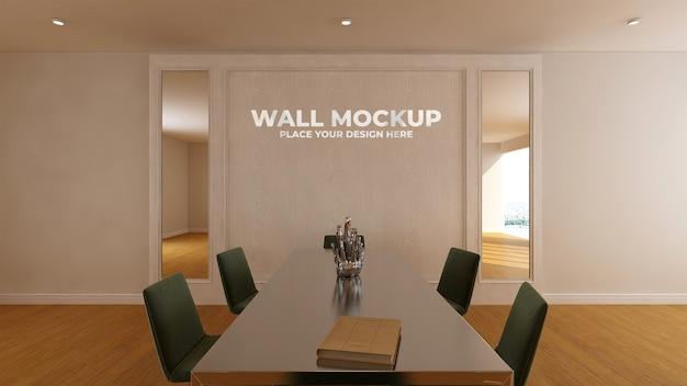 Sala riunioni dal design moderno con mockup di pareti di lusso