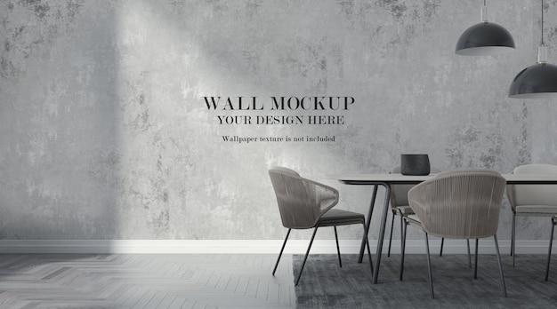 Mockup di parete moderna della sala da pranzo