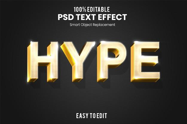 Moderno ed elegante effetto testo 3d in oro