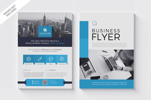 Modello di volantino moderno, a4 business flyer