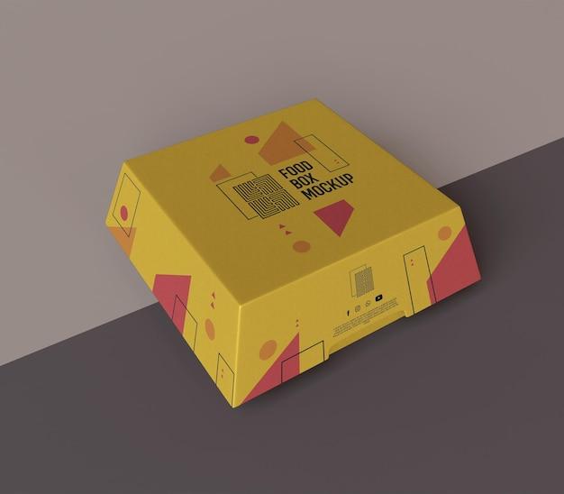 Mockup di scatola di cibo moderno