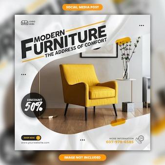 Social media di mobili moderni e design di post di instagram