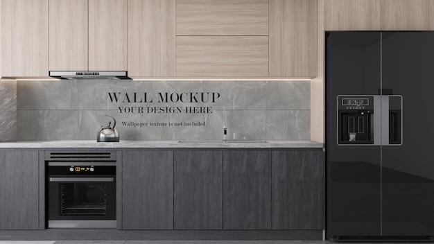 Mockup della parete della superficie della cucina moderna