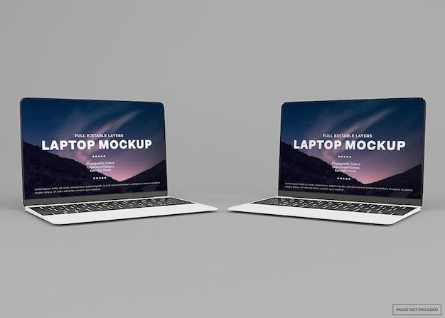 Design moderno del mockup del laptop in isolati di rendering 3d