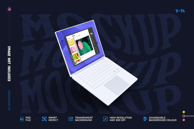 Design moderno del mockup dello schermo del laptop