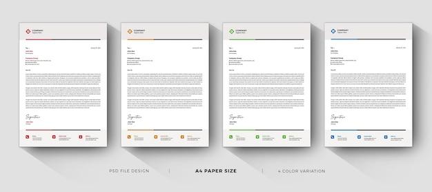 Design moderno di modelli di carta intestata professionale