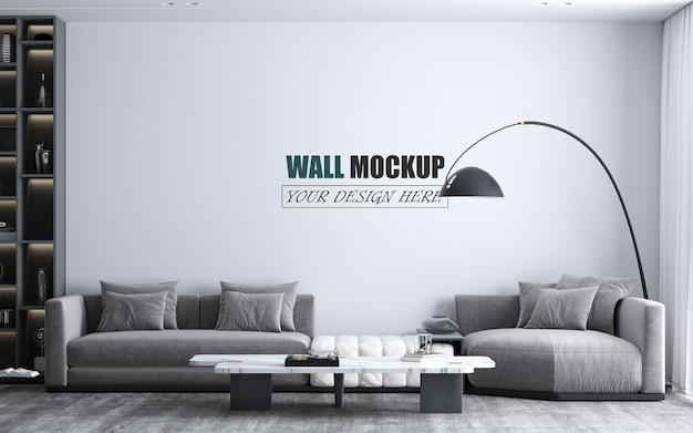 Mockup di parete interna del soggiorno moderno