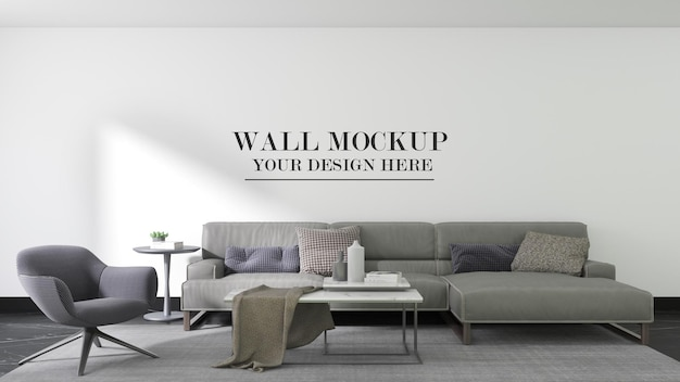 Fondo moderno del modello della parete del soggiorno