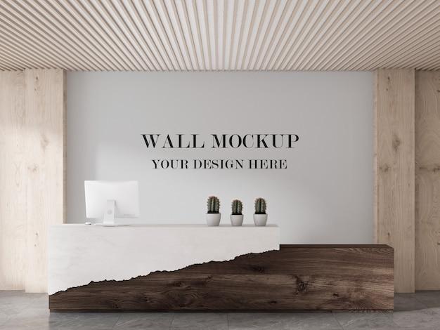 Mockup di parete della hall moderna con design rustico