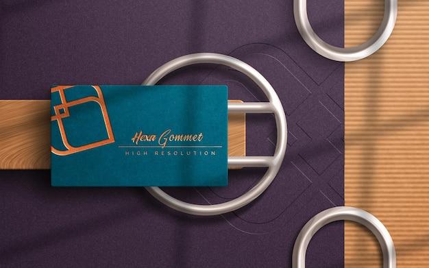 Mockup di logo biglietto da visita di lusso moderno