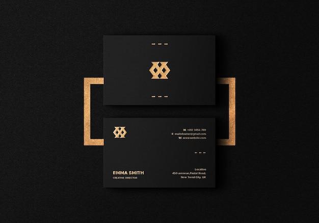 Mockup di biglietto da visita di lusso moderno con stampa tipografica