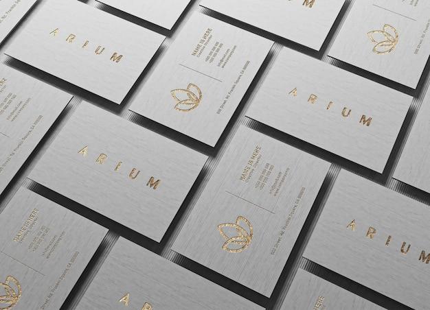 Mockup di biglietti da visita moderni e di lusso