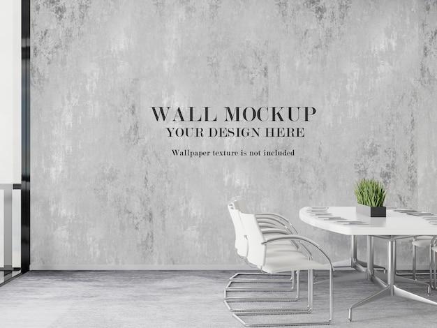 Design moderno del mockup della parete della sala riunioni